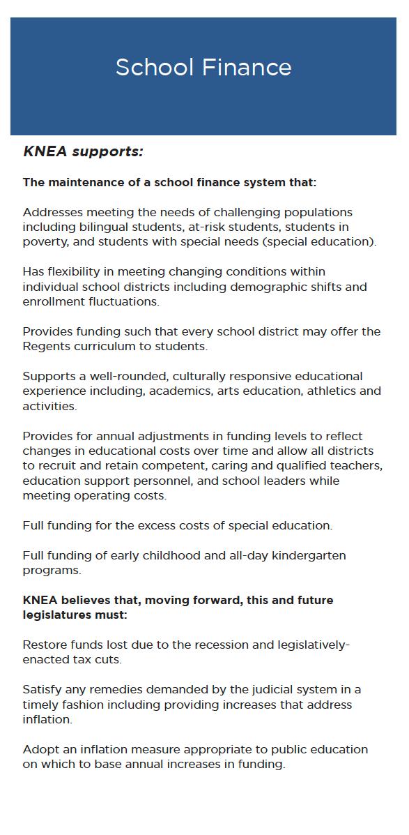 Legislative Agenda 2019-2020 - Kansas National Education